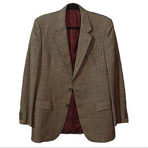 Vintage Christian Dior plaid blazer jacket -M/L
